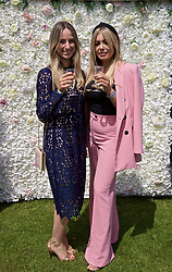 LIVERPOOL, ENGLAND - Thursday, June 20, 2019: Corporate guests enjoy the sunshine and bubbly during the opening day of the Liverpool International Tennis Tournament 2019 at the Liverpool Cricket Club. (Pic by David Rawcliffe/Propaganda)