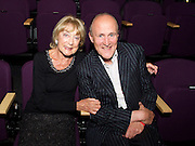 DAME GILLIAN LYNNE with  SIR PETER BAZALGETTE<br /> <br /> Dance UK Conference opening event at The Place, London, Great Britain <br /> 9th April 2015 <br /> <br /> THE UK'S FIRST-EVER INDUSTRY-WIDE DANCE CONFERENCE 9-12 APRIL, HOSTED BY DANCE UK. <br /> THE FUTURE: NEW IDEAS, NEW INSPIRATIONS OPENS AT THE PLACE <br /> KEYNOTE SPEAKERS DAME GILLIAN LYNNE, SIR KEN ROBINSON AND SIR PETER BAZALGETTE, COMPARED BY ARLENE PHILLLIPS CBE AND ASHLEY BANJO. <br /> OPENING CELEBRATION PERFORMERS INCLUDE BBC STRICTLY COME DANCING'S ROBIN WINDSOR & KRISTINA RIHANOFF, NATIONAL DANCE COMPANY OF WALES, TENIESHA BONNER AND VERVE (Graduate Company of Northern School of Contemporary Dance). <br /> <br /> Photograph by Elliott Franks<br /> <br /> <br /> Dance UK Conference opening event at The Place, London, Great Britain <br /> 9th April 2015 <br /> <br /> THE UK'S FIRST-EVER INDUSTRY-WIDE DANCE CONFERENCE 9-12 APRIL, HOSTED BY DANCE UK. <br /> THE FUTURE: NEW IDEAS, NEW INSPIRATIONS OPENS AT THE PLACE <br /> KEYNOTE SPEAKERS DAME GILLIAN LYNNE, SIR KEN ROBINSON AND SIR PETER BAZALGETTE, COMPARED BY ARLENE PHILLLIPS CBE AND ASHLEY BANJO. <br /> OPENING CELEBRATION PERFORMERS INCLUDE BBC STRICTLY COME DANCING'S ROBIN WINDSOR & KRISTINA RIHANOFF, NATIONAL DANCE COMPANY OF WALES, TENIESHA BONNER AND VERVE (Graduate Company of Northern School of Contemporary Dance). <br /> <br /> Photograph by Elliott Franks