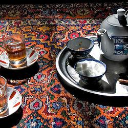 Tea set on a carpet, Iran