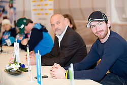 Gal Jakic at press conference prior to the Rogla Snowboard World Cup and IPC Alpine Skiing World Cup, on January 30, 2013 in Rogla, Slovenia. (Photo By Vid Ponikvar / Sportida.com)