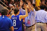 Vannes, 15/06/2013<br /> Eurobasket Women 2013<br /> Italia - Svezia<br /> Nella foto: roberto ricchini, giulia gatti<br /> Foto Ciamillo