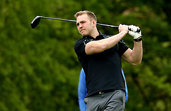 Perry Humphreys of Worcester Warriors takes part in the charity golf day in aid of Acorns Children's Hospice - Mandatory by-line: Robbie Stephenson/JMP - 20/04/2017 - RUGBY - Astbury Hall - Bridgnorth, England - Worcester Warriors Charity Golf Day