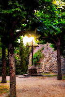 """The hand of God shines on the cross - Convent of Celle di Cortona""...<br />