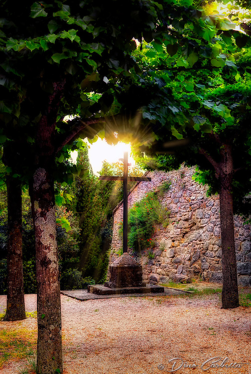 &quot;The hand of God shines on the cross - Convent of Celle di Cortona&quot;...<br />