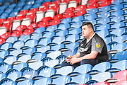 A solo Derby County fan awaits the match before the EFL Sky Bet Championship match between Huddersfield Town and Derby County at the John Smiths Stadium, Huddersfield, England on 5 August 2019.