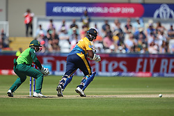 June 28, 2019 - Chester Le Street, County Durham, United Kingdom - Sri Lanka's Thisara Perera batting during the ICC Cricket World Cup 2019 match between Sri Lanka and South Africa at Emirates Riverside, Chester le Street on Friday 28th June 2019. (Credit Image: © Mi News/NurPhoto via ZUMA Press)