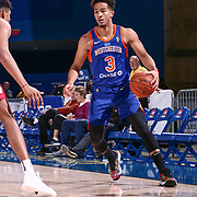 Westchester Knicks Guard BILLY GARRETT (3) dribbles down the court in second half of a NBA G-league regular season basketball game between the Delaware 87ers and the Westchester Knicks (New York Knicks) Tuesday, Nov. 07, 2017, at The Bob Carpenter Sports Convocation Center in Newark, DEL