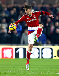 Gaston Ramirez of Middlesbrough controls the ball - Mandatory by-line: Robbie Stephenson/JMP - 05/12/2016 - FOOTBALL - Riverside Stadium - Middlesbrough, England - Middlesbrough v Hull City - Premier League
