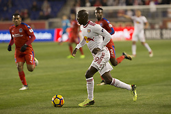 March 1, 2018 - Harrison, New Jersey, United States - Bradley Wright-Phillips (99) of New York Red Bulls controls ball during 2018 CONCACAF Champions League round of 16 game against CD Olimpia of Honduras at Red Bull arena, Red Bulls won 2 - 0  (Credit Image: © Lev Radin/Pacific Press via ZUMA Wire)