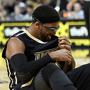 Central Florida guard Marcus Jordan (5)  gets up from a foul during the NCAA basketball game against the USF Bulls at the UCF Arena on November 18, 2010 in Orlando, Florida. UCF won the game 65-59. (AP Photo/Alex Menendez)