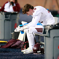 Thomas Wells | Buy at PHOTOS.DJOURNAL.COM<br /> East Webster's Rivers Mohr sits alone as time expires and the Wolverines fall 39-20 to Bassfield in the class 2A State Championship in Oxford on Friday.