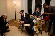 STEVEN GRETENSTEIN; TOM DIXON; FERNANDO CAMPANA; SAM PRATT. Fendi dinner at the home of Craig Robins. Part of Design Miami.  219 Aqua Terrace. Miami. 3 December 2008 *** Local Caption *** -DO NOT ARCHIVE -Copyright Photograph by Dafydd Jones. 248 Clapham Rd. London SW9 0PZ. Tel 0207 820 0771. www.dafjones.com