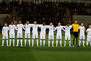 England Team during the U19 International match between England U19's and Italy U19's at the New York Stadium, Rotherham, England on 14 November 2014.