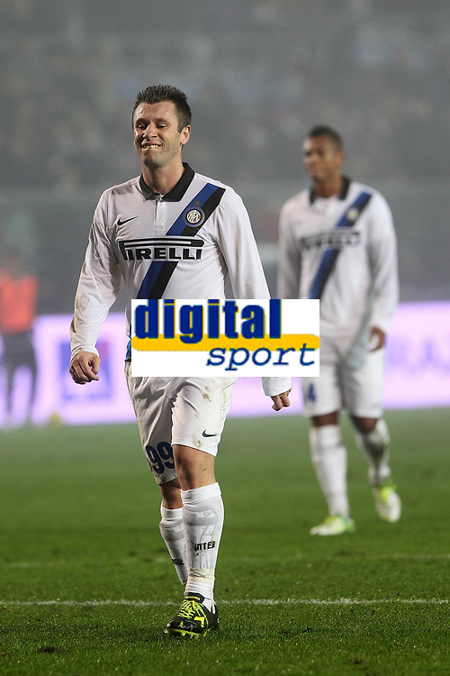"""Delusione Antonio Cassano Inter<br /> Bergamo 10/11/2012 Stadio """"Azzurri d'Italia""""<br /> Football Calcio Serie A 2012/13<br /> Atalanta v Inter<br /> Foto Insidefoto Paolo Nucci"""