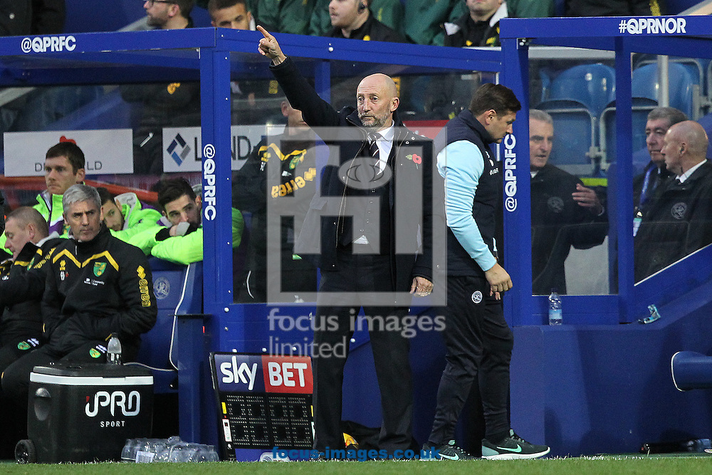 Queens Park Rangers Manager Ian Holloway during the Sky Bet Championship match at the Loftus Road Stadium, London<br /> Picture by Paul Chesterton/Focus Images Ltd +44 7904 640267<br /> 19/11/2016