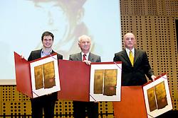 Peter Kauzer, Evgen Titan and Branko Franc Oblak (Sara Isakovic is missing) at 45th Awards of Stanko Bloudek for sports achievements in Slovenia in year 2009, on February 9, 2010, Brdo pri Kranju, Slovenia.  (Photo by Vid Ponikvar / Sportida)