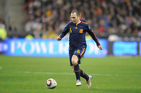 FOOTBALL - FRIENDLY GAME 2010 - FRANCE v SPAIN - 03/03/2010 - PHOTO JEAN MARIE HERVIO / DPPI - ANDRES INIESTA (SPA)