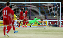 A Trialist for Bristol City Under 21s makes a save during the preseason friendly against Weymouth - Mandatory by-line: Robbie Stephenson/JMP - 13/07/2016 - FOOTBALL - Bob Lucas Stadium - Weymouth, England - Weymouth FC v Bristol City Under 21s - Pre-season friendly