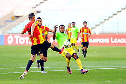 May 12, 2017 - Rades, Tunisia - Mbarki Iheb(L) of  (EST) and Nllandu Phuati(28) of the Vita club during the First day of the group stage of the Champions League  2017 Total  between Esperance Sportive de Tunis (EST) and the formation of AS Vita Club (RD Congo) at the Rades stadium..The Esperance Sportive de Tunis (EST) won by 3/1. (Credit Image: © Chokri Mahjoub via ZUMA Wire)
