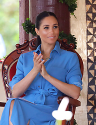 The Duchess of Sussex during a visit to Tupou College in Tonga on the second day of the royal couple's visit to Tonga.