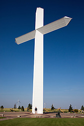 large cross in Texas on Route 66