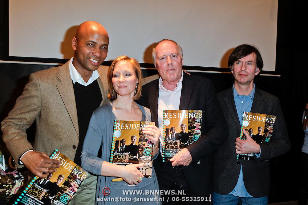 NLD/Amsterdam/20120309 - Onthulling kleden voor Care & Fair, Humberto Tan, Prinses Margarita de Bourbon de Parme, Peter Tuinman en Piet Paris