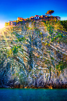 """Corniglia courtyard peak on the Tyrrhenian sea""...<br />