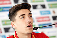 Hector Bellerin speaks during a press conference at Aktivpark Montafon Stadion, Schruns<br /> Picture by EXPA Pictures/Focus Images Ltd 07814482222<br /> 28/05/2016<br /> ***UK &amp; IRELAND ONLY***<br /> EXPA-ESP-160530-0055.jpg