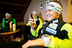 Lea Einfalt during official presentation of the outfits of the Slovenian Ski Teams before new season 2015/16, on October 6, 2015 in Kulinarika Jezersek, Sora, Slovenia. Photo by Vid Ponikvar / Sportida