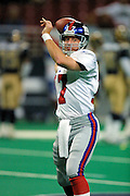 Backup Quarterback Jason Garrett (17) of the New York Giants warms up before a game in a 15 to 14 loss to the St. Louis Rams on 10/14/2001..©Wesley Hitt/NFL Photos