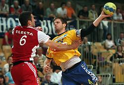 Milan Mirkovic at MIK First league Handball match between RK Cimos Koper and RD Slovan, on May 9, 2009, in SRC Bonifika, Koper, Slovenia.  (Photo by Vid Ponikvar / Sportida)