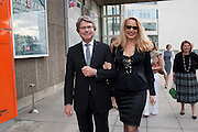 WARWICK HEMSLEY;; JERRY HALL; , Opening of Love is what you want. Exhibition of work by Tracey Emin. Hayward Gallery. Southbank Centre. London. 16 May 2011. <br /> <br />  , -DO NOT ARCHIVE-© Copyright Photograph by Dafydd Jones. 248 Clapham Rd. London SW9 0PZ. Tel 0207 820 0771. www.dafjones.com.