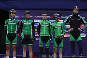 Team Ireland Edward Dunbar, Conor Dunne, Robert - Jon McCarthy and Mathew Teggart at the presentation during the Road Cycling European Championships Glasgow 2018, in Glasgow City Centre and metropolitan areas Great Britain, Day 11, on August 12, 2018 - Photo Laurent Lairys / ProSportsImages / DPPI
