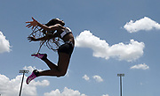 Jun 23, 2019; Miramar, FL, USA; Aniella Delafosse places  ninth in the women's long jump at 18-5 3/4 (5.63m) during the USATF U20 Championships at Ansin Sports Complex.