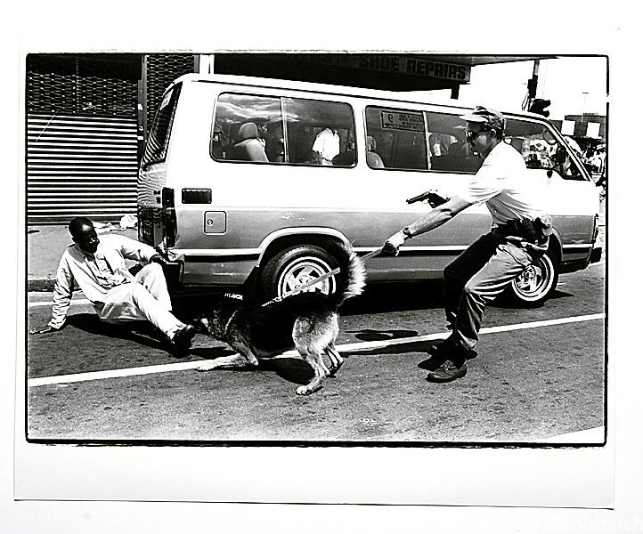 Copy of a vintage print by Joao Silva. Johannesburg.