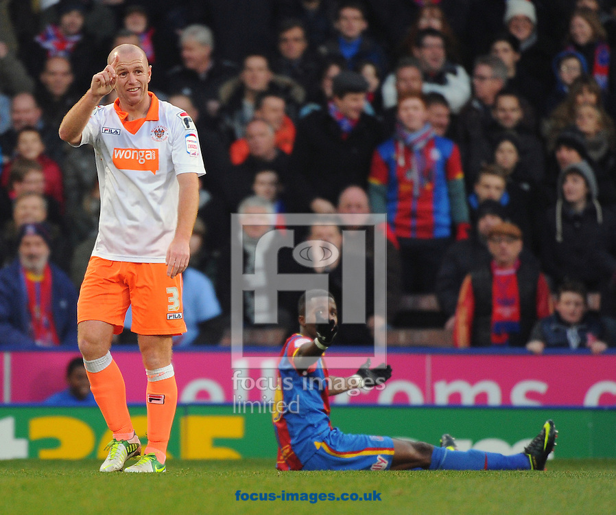 Picture by Seb Daly/Focus Images Ltd +447738 614630.08/12/2012.Stephen Crainey of Blackpool during the npower Championship match at Selhurst Park, London.