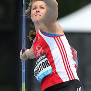 Katharina Molitor, Germany, in action during the Women's Javelin throw during the Diamond League Adidas Grand Prix at Icahn Stadium, Randall's Island, Manhattan, New York, USA. 14th June 2014. Photo Tim Clayton