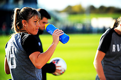 Gemma Evans of Bristol City rehydrates- Mandatory by-line: Nizaam Jones/JMP - 27/10/2019 - FOOTBALL - Stoke Gifford Stadium - Bristol, England - Bristol City Women v Tottenham Hotspur Women - Barclays FA Women's Super League