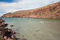 Kayaking on Isla Espiritu Santo in the Sea of Cortez, Mexico.
