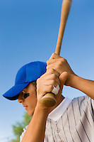 Baseball Batter Waiting For Pitch