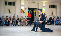 Ballroom and Latin dance party with guest performances by Lemington Ridley and Nejc Jus, Viktoriya Wilton and Nuno Filipe Pessoa Sabroso, Elena Plesenco at the Southside Ballroom in Wandsworth, London. September 2014