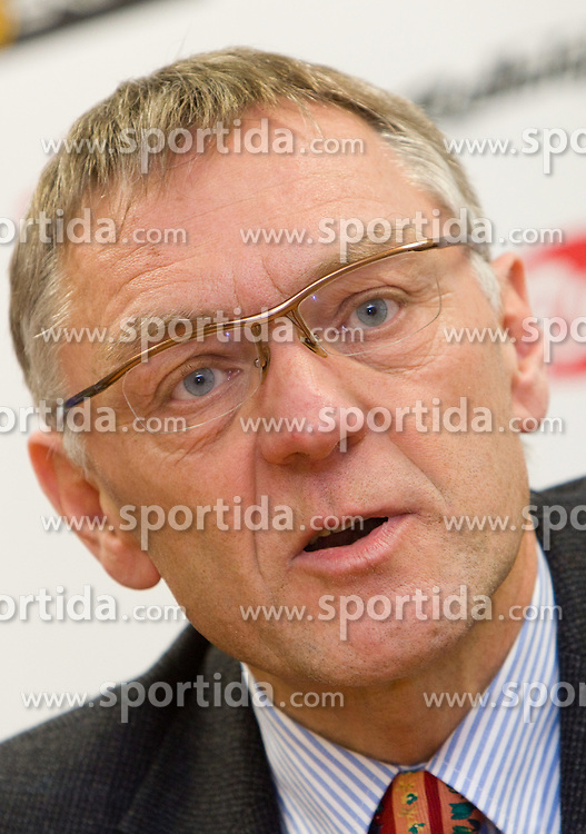 Mitja Praznik at press conference of Slovenian Nordic Cross-country Ski team, on January 25, 2011, in SZS, Ljubljana, Slovenia. (Photo By Vid Ponikvar / Sportida.com)