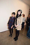 MELANIE CHITTY; EMMA SINCLAIR, David Salle private view at the Maureen Paley Gallery. 21 Herlad St. London. E2. <br /> <br />  , -DO NOT ARCHIVE-&copy; Copyright Photograph by Dafydd Jones. 248 Clapham Rd. London SW9 0PZ. Tel 0207 820 0771. www.dafjones.com.