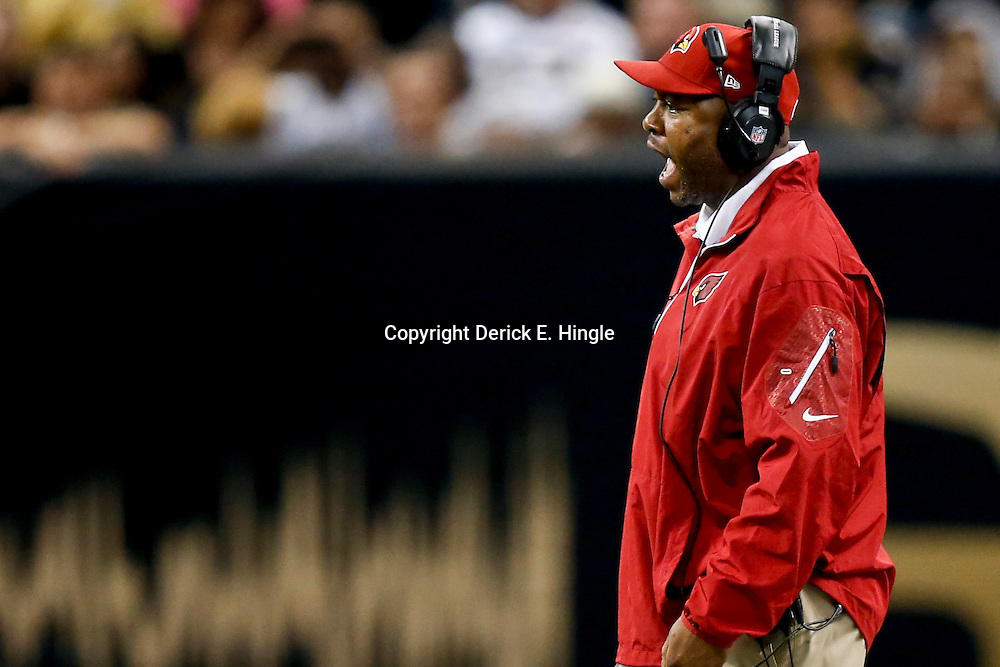 Sep 22, 2013; New Orleans, LA, USA; Arizona Cardinals defensive coordinator Todd Bowles against the New Orleans Saints during a game at Mercedes-Benz Superdome. The Saints defeated the Cardinals 31-7. Mandatory Credit: Derick E. Hingle-USA TODAY Sports