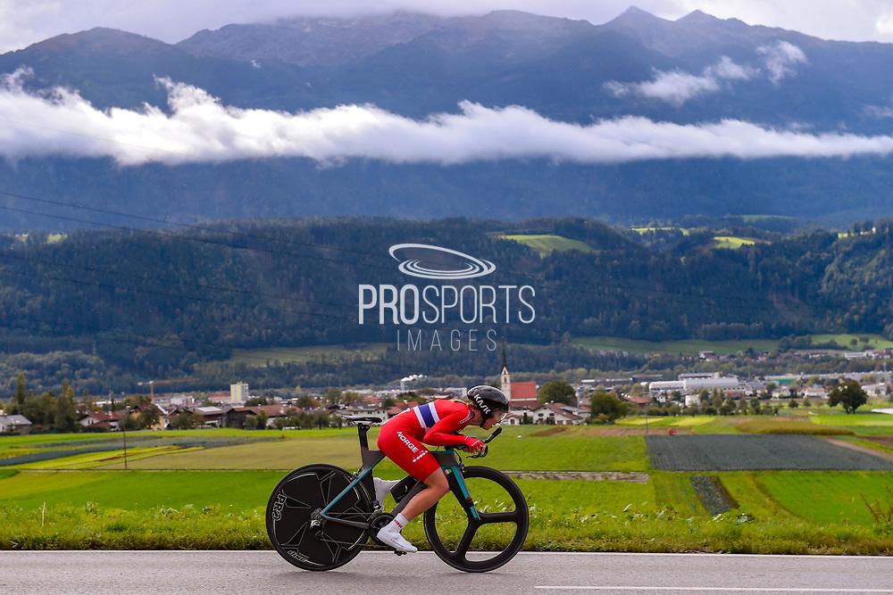 Silje Mathisen (Norway) during the 2018 UCI Road World Championships, Women Juniors Individual Time Trial 20 km on September 24, 2018 in Innsbruck, Austria - Photo Dario Belingheri / BettiniPhoto / ProSportsImages / DPPI