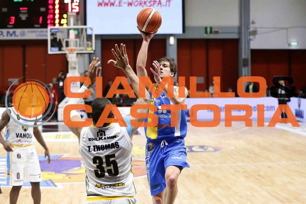 Tommaso Laquintana<br /> Vanoli Cremona - Betaland Capo D Orlando<br /> Lega Basket Serie A 2016/2017<br /> Cremona 12/03//2017<br /> Foto Ciamillo-Castoria / M. Brondi
