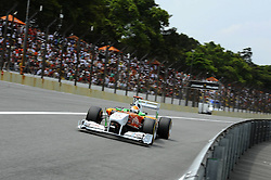 26.11.2011, Autodromo Jose Carlos Pace, Sao Paulo, BRA, F1, Grosser Preis von Brasilien, im Bild Adrian Sutil (GER), Force India Formula One Team // during the Formula One Championships 2011 Grand Prix of Brazil held at the Autodromo Jose Carlos Pace, Sao Paulo, Brazil on 2011/11/26. EXPA Pictures © 2011, PhotoCredit: EXPA/ nph/ Dieter Mathis..***** ATTENTION - OUT OF GER, CRO *****