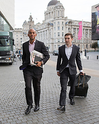 © Licensed to London News Pictures . 25/09/2016 . Liverpool , UK . CHUKA UMUNNA arrives at the Museum of Liverpool for The Marr Show during a round of Sunday morning political interviews from the Docks in Liverpool on the first day of the Labour Party Conference . Photo credit : Joel Goodman/LNP
