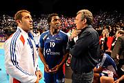DESCRIZIONE : France Tournoi international Paris Bercy Equipe de France Homme France Islande 17/01/2010<br /> GIOCATORE : Guigou Mickael Abalo Luc Onesta Claude Coach<br /> SQUADRA : France<br /> EVENTO : Tournoi international Paris Bercy<br /> GARA : France Islande<br /> DATA : 17/01/2010<br /> CATEGORIA : Handball France Homme<br /> SPORT : HandBall<br /> AUTORE : JF Molliere par Agenzia Ciamillo-Castoria <br /> Galleria : France Homme 2009/2010 <br /> Fotonotizia : France Tournoi international Paris Bercy Equipe de France Homme France Islande 17/01/2010 <br /> Predefinita :