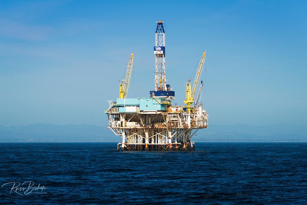Off-shore oil platform, Santa Barbara Channel, Ventura, California USA